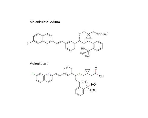 Montelukast Sodium versus Molenkulast