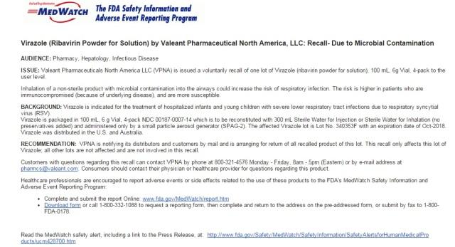 1-2-2015 FDA recall