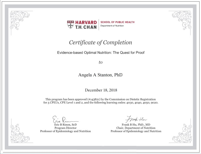 Angela A Stanton, PhD--Certificate of Completion