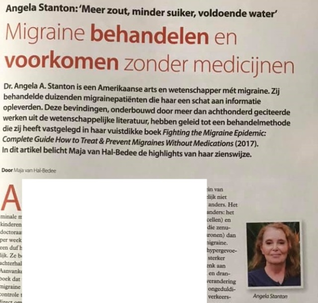 Stanton Migraine Protocol in Dutch Magazine