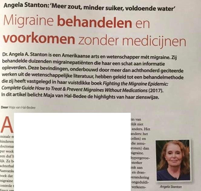 Stanton Migraine Protocol in Dutch Magazine